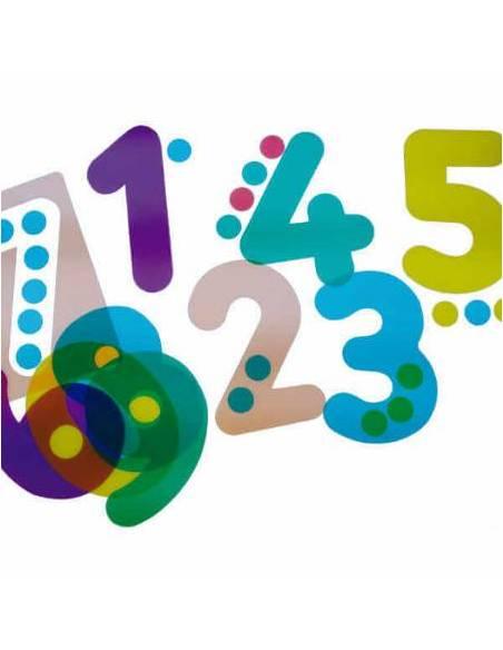 Siluetas de números translúcidos  Lenguaje