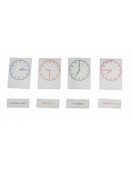 Ejercicios para el reloj (inglés)  Medidas y Tiempo