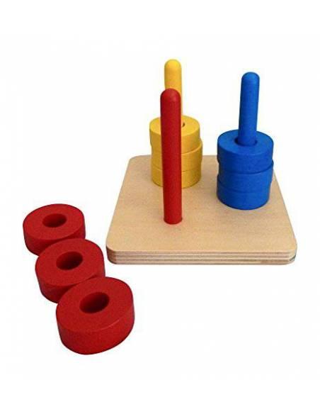 Apilador vertical de tres colores