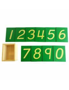 Números de lija con caja