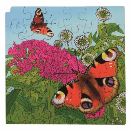 Puzzle de Madera Ciclo de la Mariposa