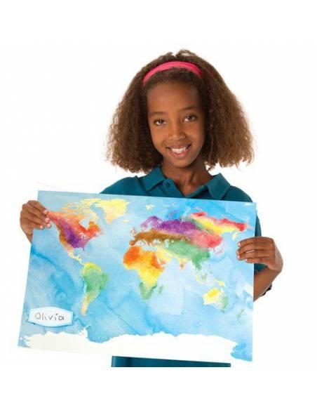 Mapa del mundo para colorear (Pack de 24)  Mapas y Globos Terráqueos