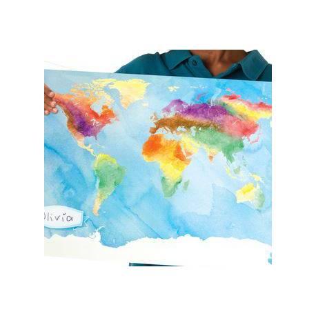 Mapa del mundo para colorear (Pack de 24)