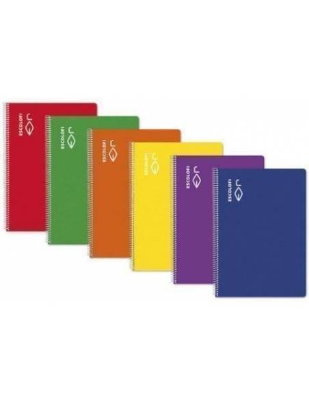 Libreta pauta montessori 5 - 16 hojas 70 gr Cuartilla ROJO