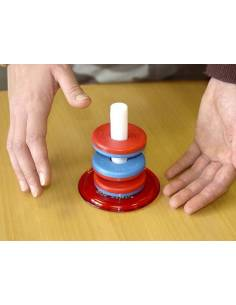 Torre de anillos magnética (Positivo-Negativo)