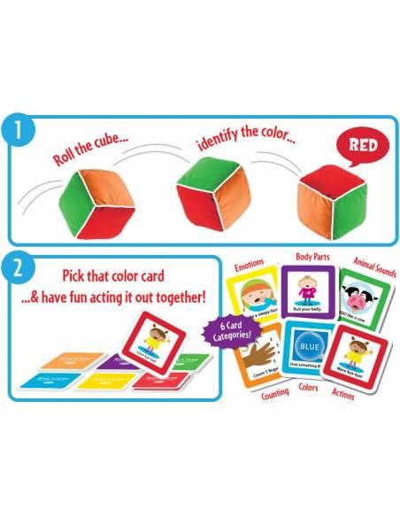 Roll & play - cubo de tela con actividades  De 1 a 3 años