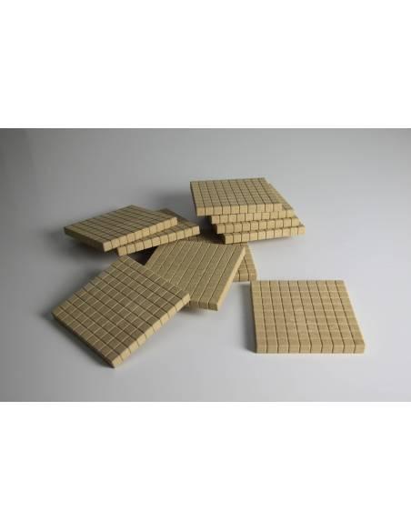Pack 10 centenas (Base 10) Re-wood*  Base 10