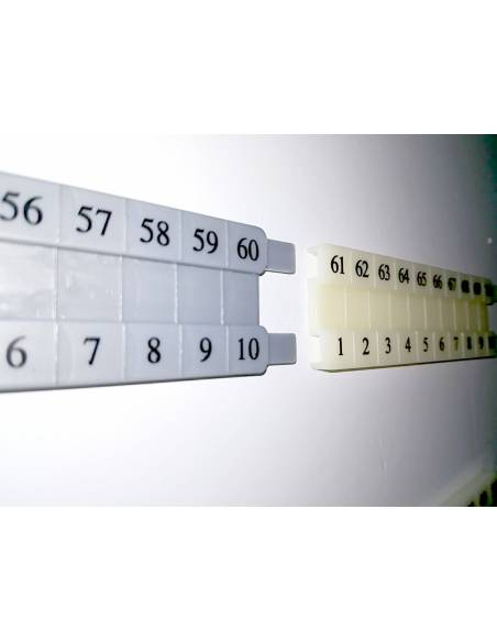 Recta numérica de plástico para regletas  Regletas