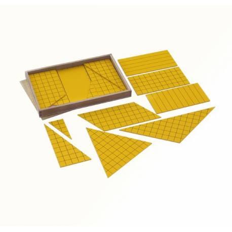 Triángulos amarillos para área