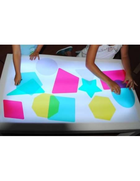 Formas 2D translúcidas para mesa de luz  Mesa de Luz