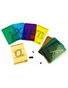 Letras cursivas para trazar con rotulador