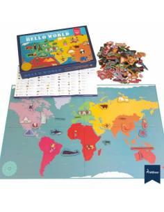 Mapa del mundo con imanes