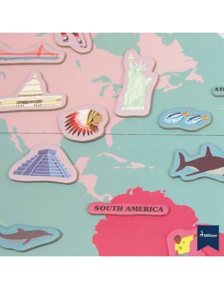Mapa del mundo con imanes  Geografía