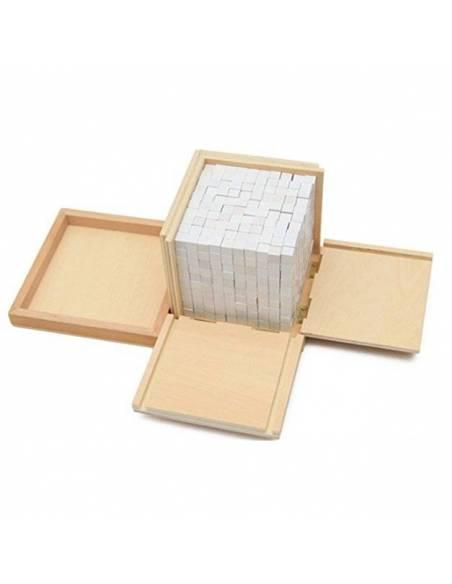 Caja de volumen - 1000 cubos de 1 cm*  Geometría y Álgebra