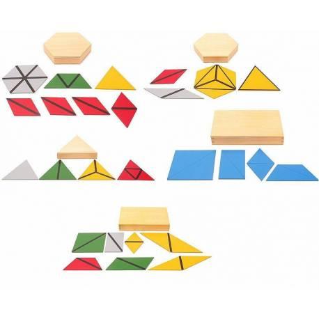 MINI - Triángulos constructivos (Pack 5 cajas)