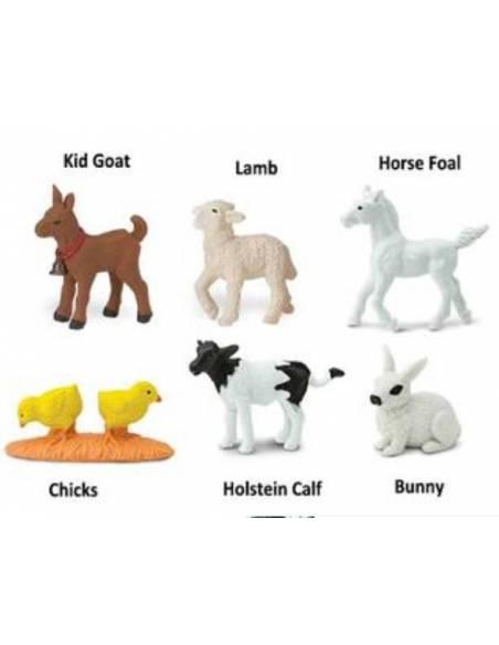 Crías de animales de la granja