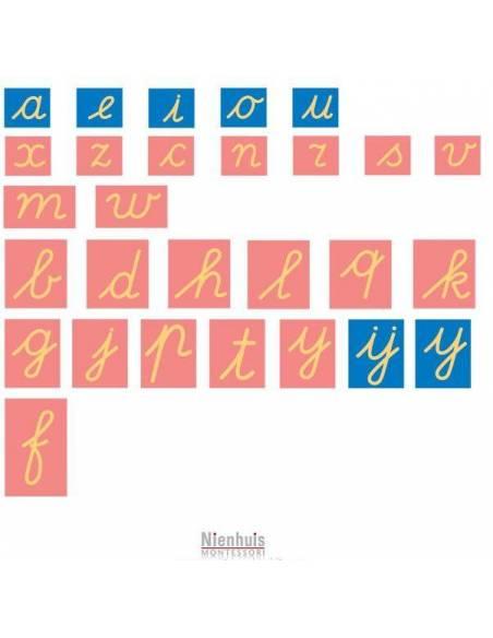 Letras de lija ligada Internacional Nienhuis  Lenguaje Montessori