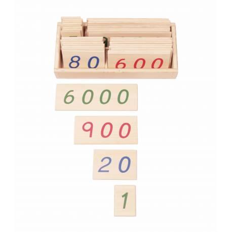 Números largos en madera 1-9000