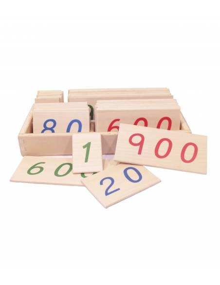 Números largos en madera 1-9000  Sistema Decimal