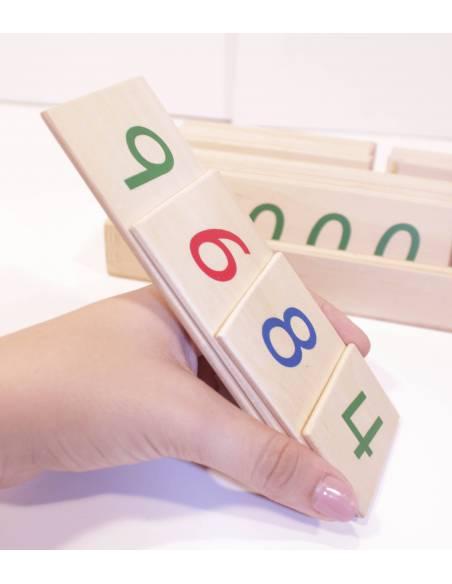 Números largos en madera GRANDES  Sistema Decimal