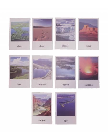 Tarjetas de topografía (EN)  Tarjetas montessori