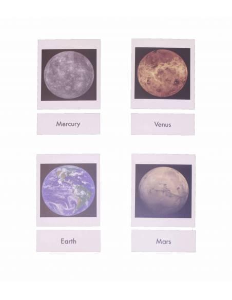 Tarjetas Planetas (EN)  Tarjetas Montessori