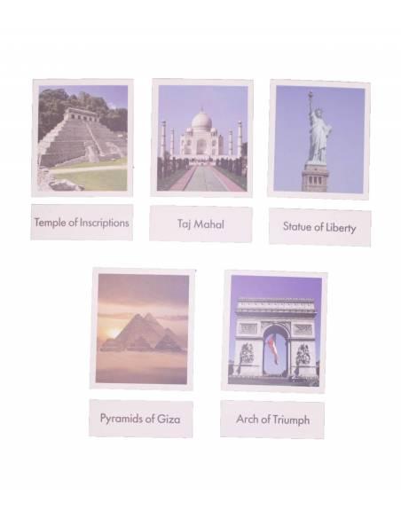 Tarjetas monumentos del mundo (EN)  Tarjetas montessori