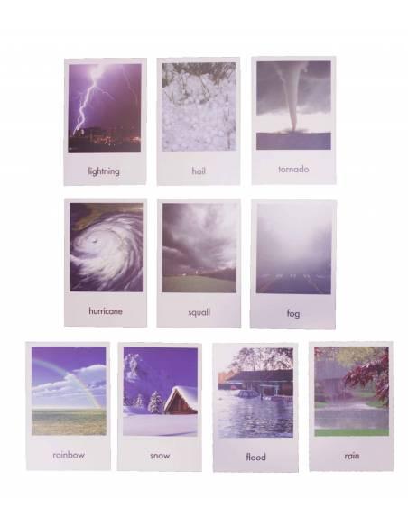 Tarjetas Clima (EN)  Tarjetas montessori