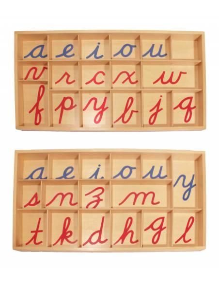 Abecedario móvil en cursiva GRANDE  Aprender a escribir