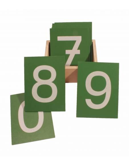 Números de lija PRINT con caja  Contar del 0 al 100