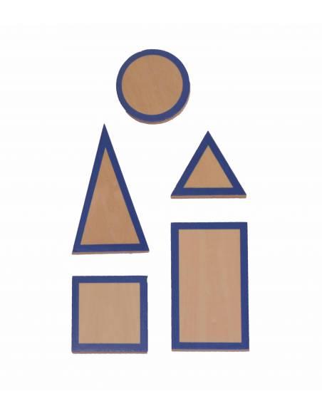 Sólidos geométricos azules  Sensorial Montessori