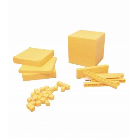 Base 10 amarillo encajable