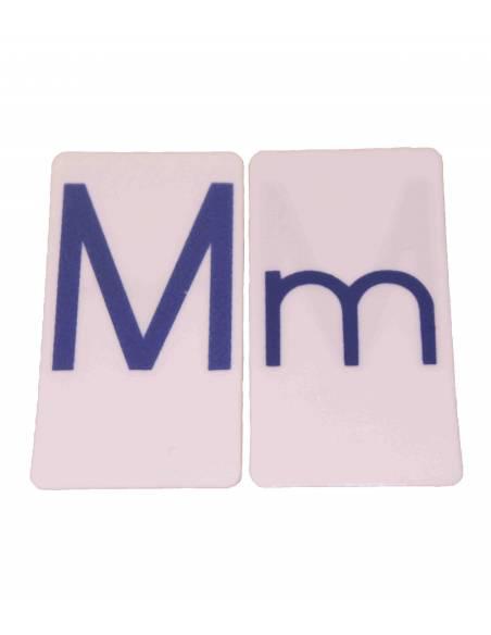 Abecedario de tarjetas (azul)  Lenguaje