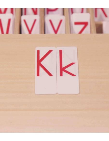 Abecedario de tarjetas (rojo)  Lenguaje Montessori