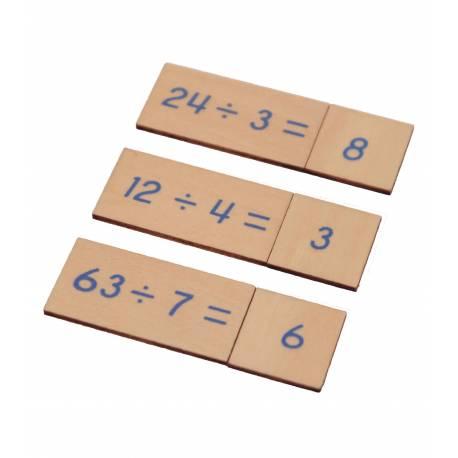 Caja operaciones DIVISIÓN en madera