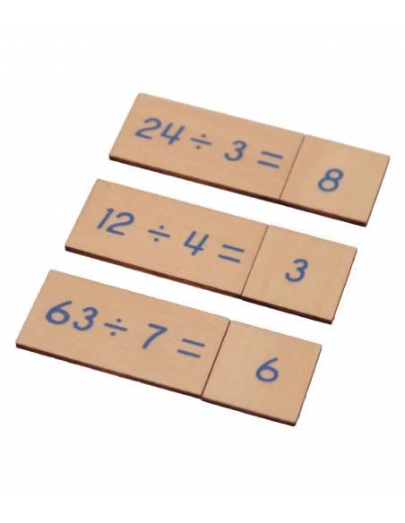 Caja operaciones DIVISIÓN en madera  Operaciones Básicas
