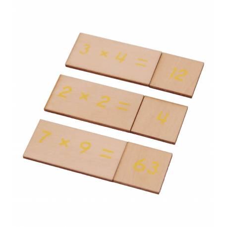Caja operaciones MULTIPLICACIÓN en madera