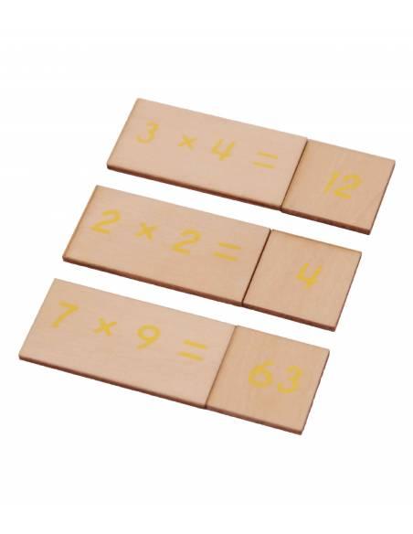 Caja operaciones MULTIPLICACIÓN en madera  Operaciones Básicas