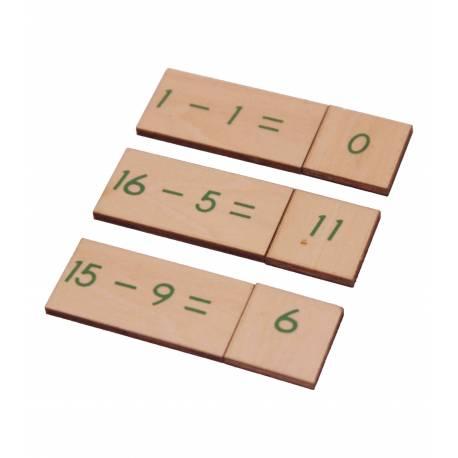 Caja operaciones RESTA en madera