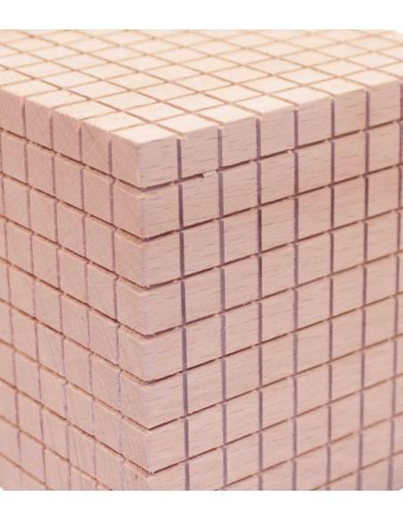 Cubo de 1000 en madera - Base 10  Base 10