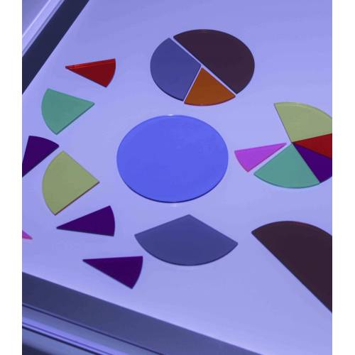 Círculos de fracciones translúcidos*  Fracciones