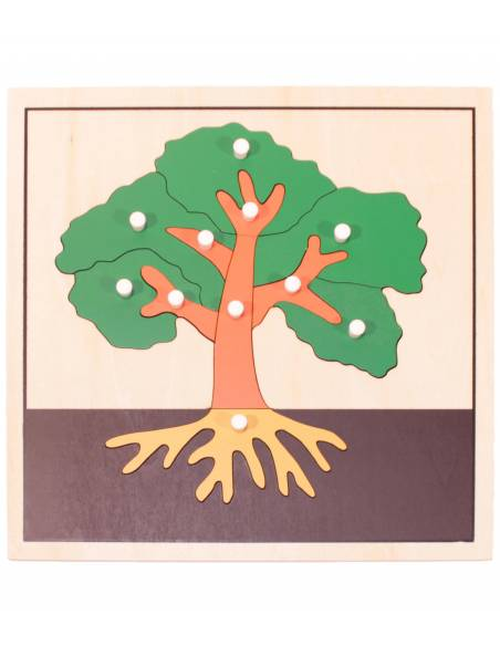 Puzle de madera - Árbol  Botánica y Zoología