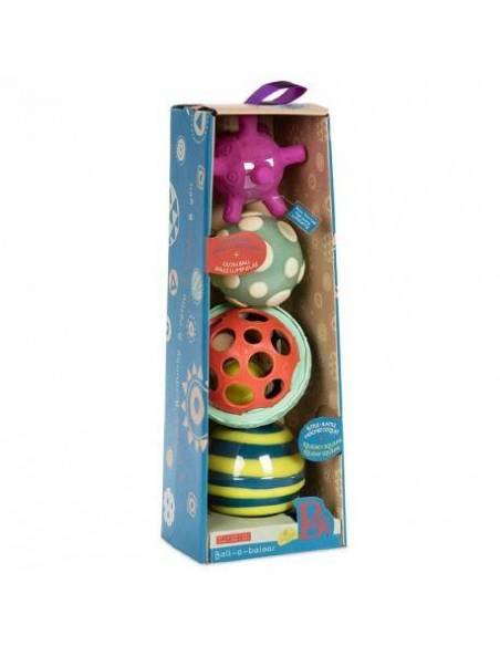 Ball-a-balloos. Conjunto de bolas con texturas  Bebés