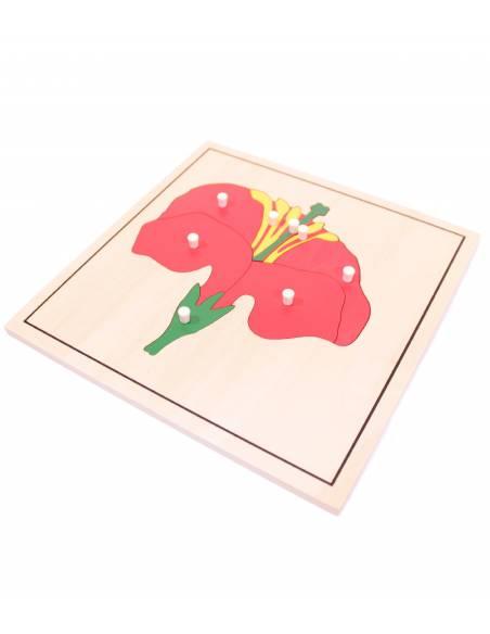 Puzle de madera - Flor  Botánica y Zoología
