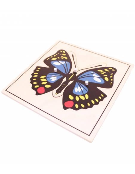 Puzzle madera - Mariposa  Botánica y Zoología