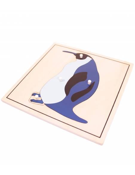 Puzle de madera - Pingüino  Botánica y Zoología