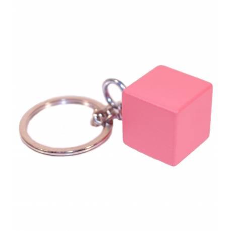 Llavero Cubo Torre Rosa