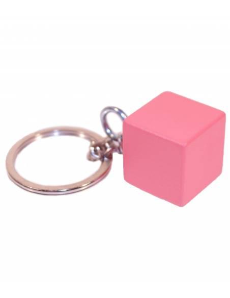 Llavero Cubo Torre Rosa  Regalos Montessori