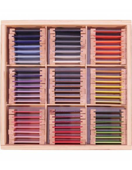 Caja de color nº 3*  Material Montessori