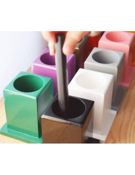 11 Botes colores para lápices  Lenguaje Montessori